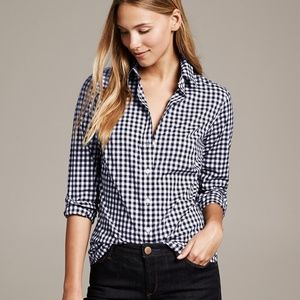 Banana Republic Long Sleeve No Iron Preppy Gingham